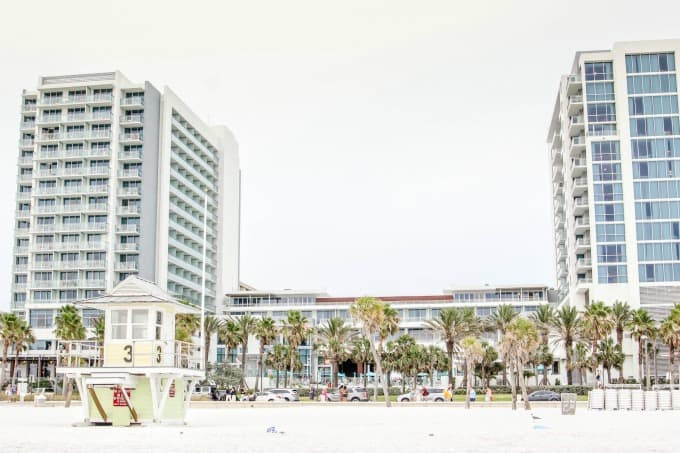 The Wyndham Grand Clearwater is just steps from the beach