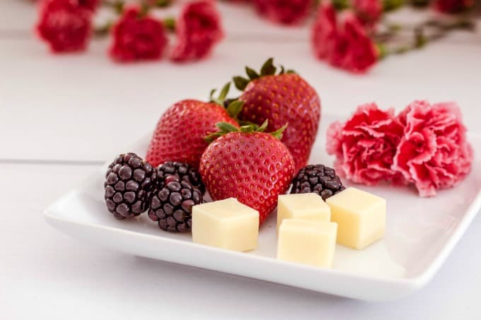 Snack on a fruit and cheese plate