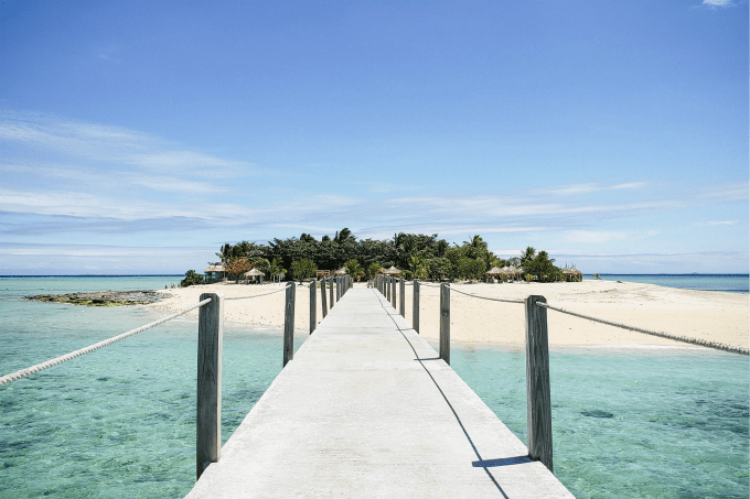 Bridge to Tivua Island Fiji