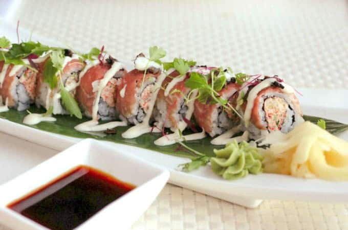 Sushi at Ocean Hai at the Wyndham Grand Clearwater Beach