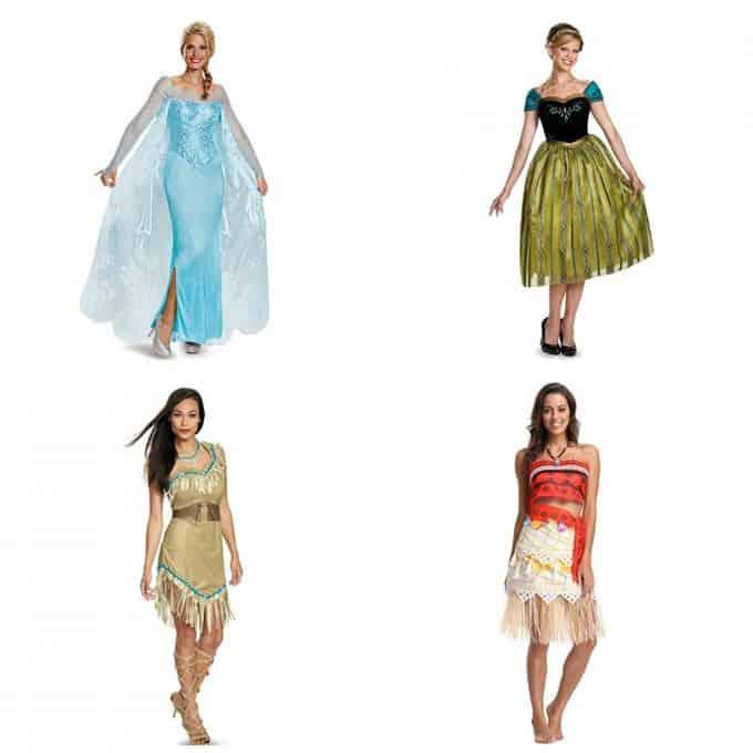 Disney Princess Costumes for Elsa, Anna, Moana and Pocahontas