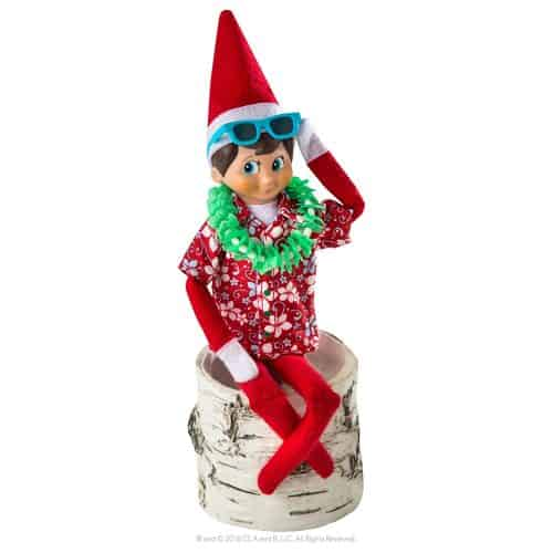 A cute Hawaiian shirt might be my favorite of the Elf On The Shelf clothes