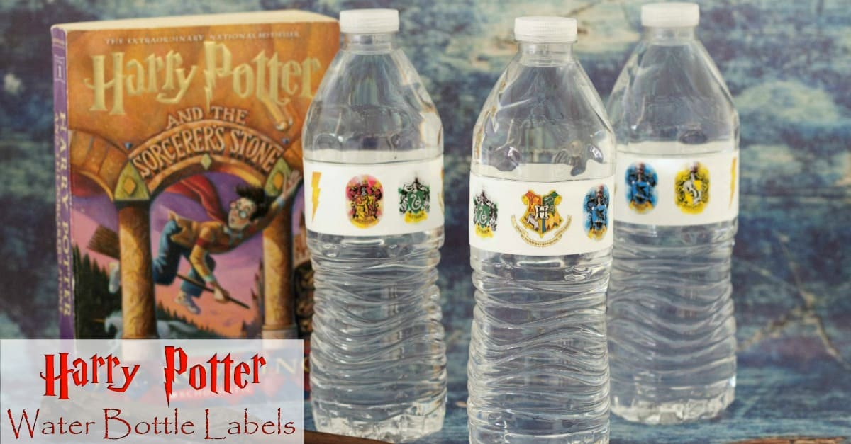 Free Printable Harry Potter Labels For Water Bottles - Fun