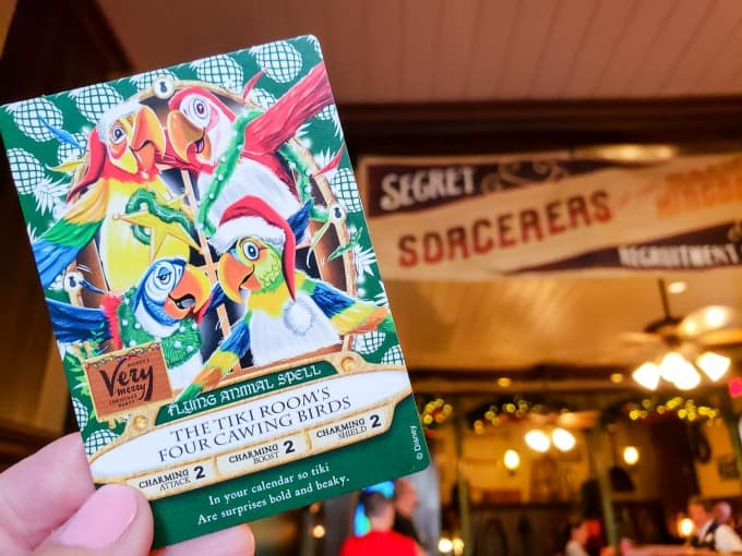 Sorcerers Of The Magic Kingdom Christmas Party Card