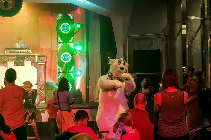 Dancing with polar bears at Club Tinsel