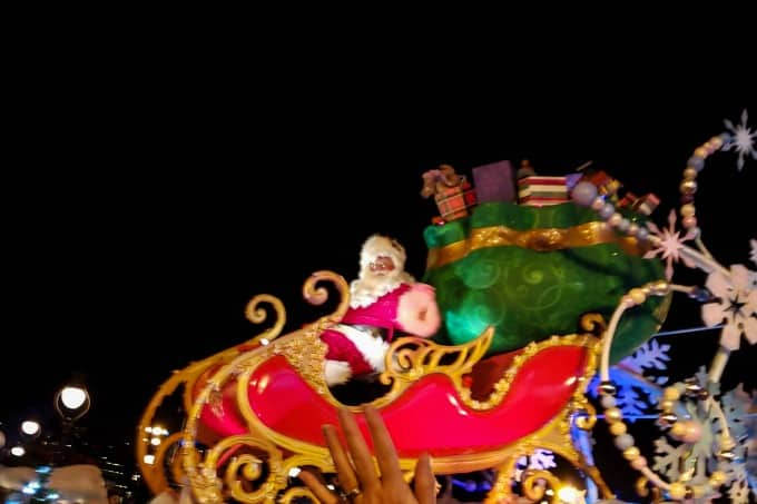 Even Santa comes to Mickey's Christmas party