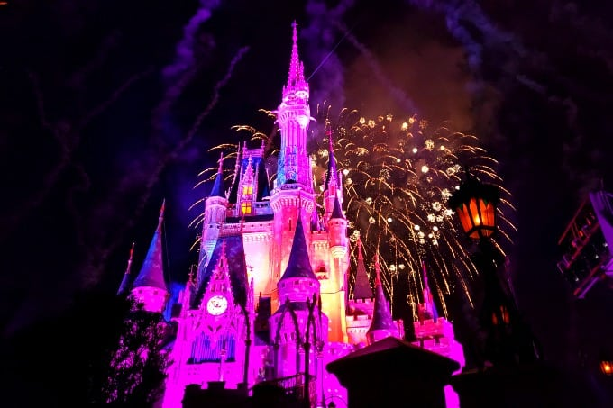 Mickey's Christmas Party fireworks