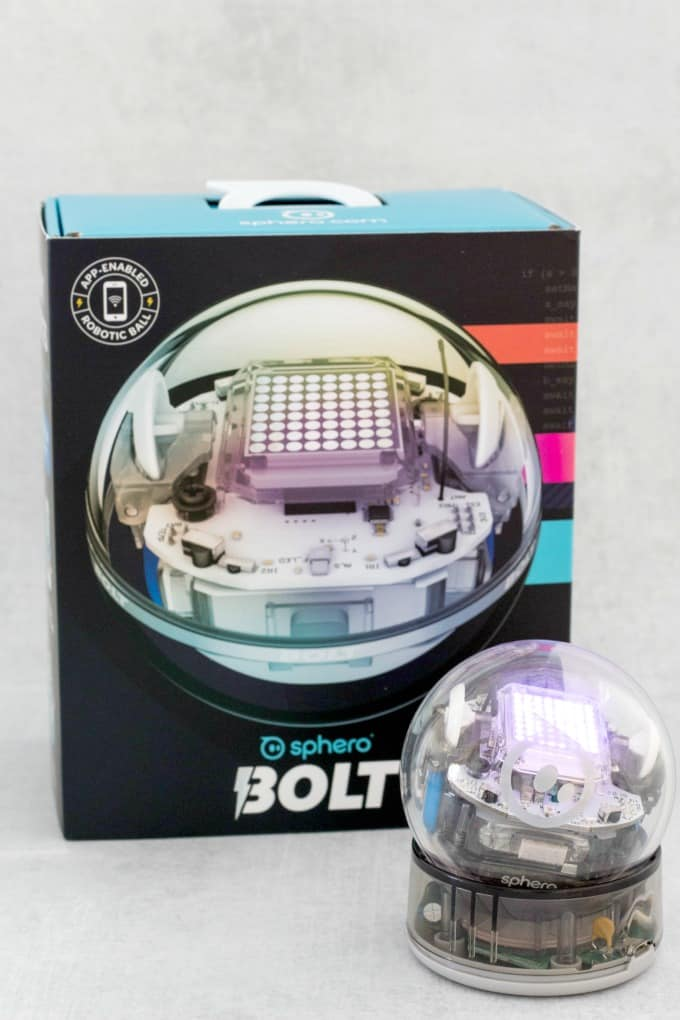 The Sphero Bolt is a one of several Sphero robots that help children learn through play