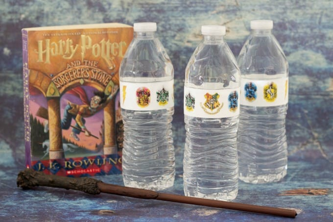 Harry Potter themed water bottles