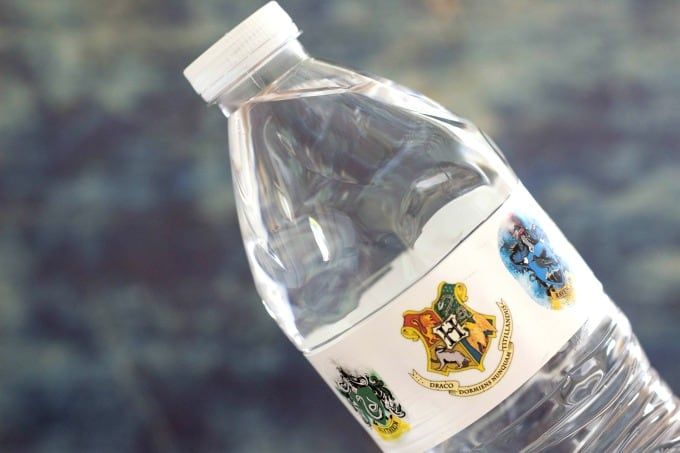 Harry Potter water bottle labels