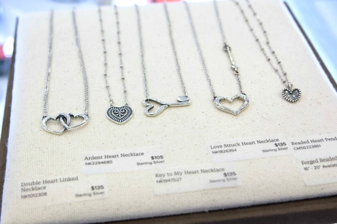 Heart Shaped necklaces from James Avery Jewelry