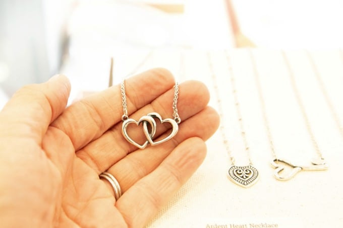Heart necklace from James Avery