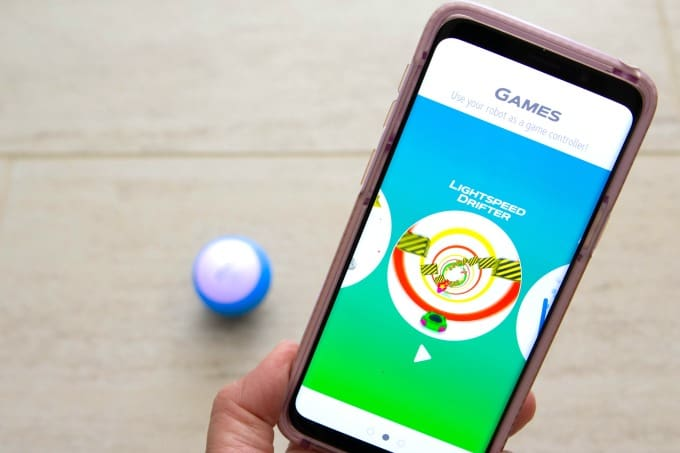 Kids love playing games with the Sphero Mini