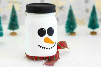 snowman mason jar feature