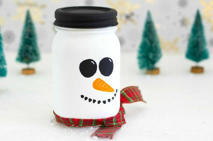 snowman mason jar feature