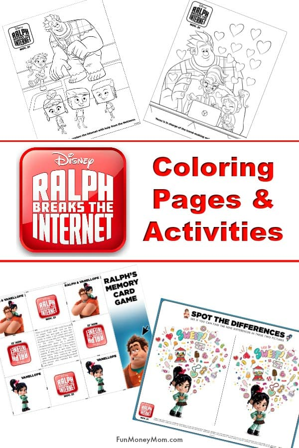 Ralph Breaks The Internet Coloring Pages - Excited about the new Wreck It Ralph sequel? Check out the latest trailer and have some fun with these Ralph Breaks The Internet activities and coloring pages. #ralphbreakstheinternet #wreckitralph #coloringpages