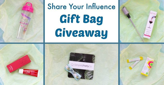 Share Your Influence Gift Bag Giveaway Facebook