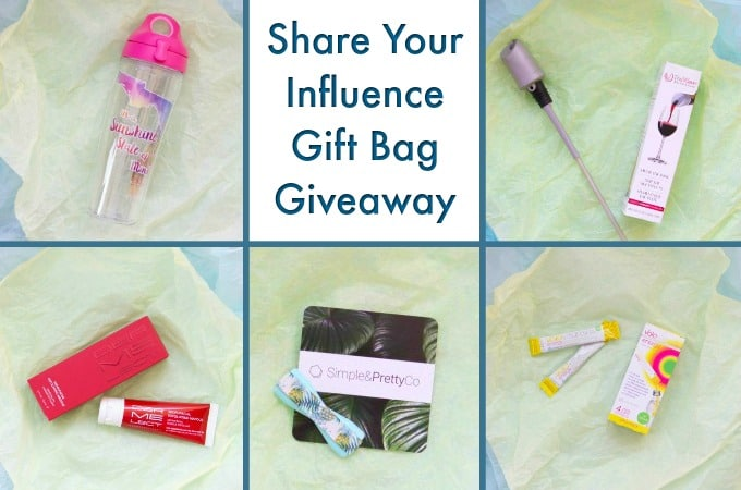Share Your Influence Gift Bag Giveaway