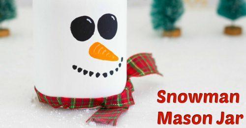 Snowman mason jar facebook