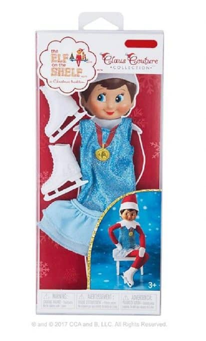 Elf ice skating outfit