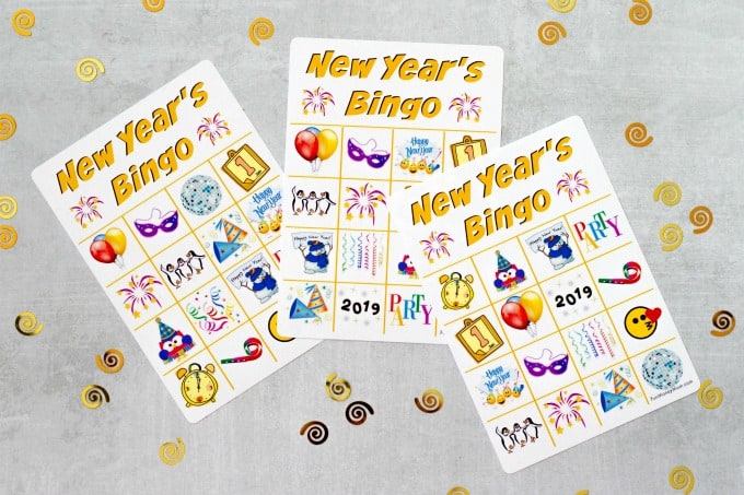 New Year's Eve Bingo Cards