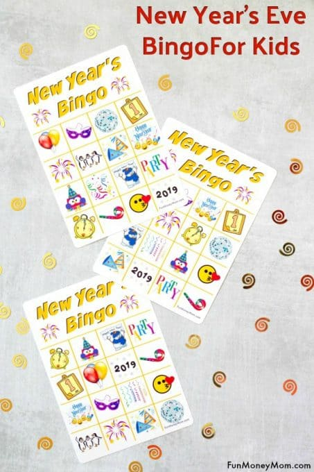 New Year's Eve bingo is the perfect way to keep the kids entertained while you're waiting for the clock to strike midnight!