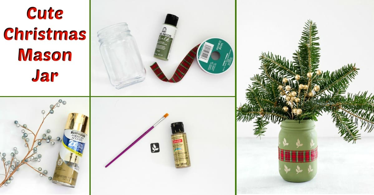 Cute Christmas Mason Jar | Fun Money Mom