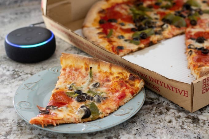 Ordering a pizza with Alexa