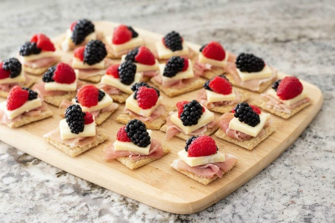 Fresh berries add a little color to this delicious brie appetizer