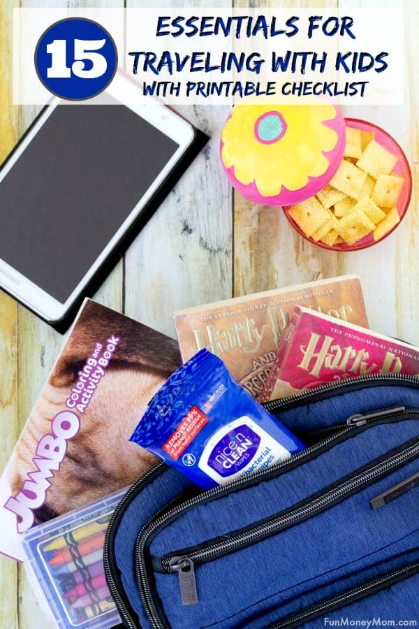 Traveling With Kids - Planning a family vacation? Check out my free printable list of all the things you'll need to bring to keep the kids comfy, happy and entertained along the way. #ad #nicencleanwipes #whywipes #Pmedia #travel #travelwithkids