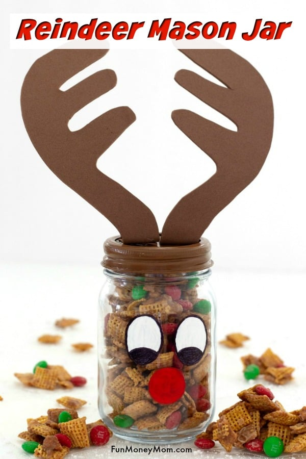 Fun Diy Gift Reindeer Mason Jar Fun Money Mom
