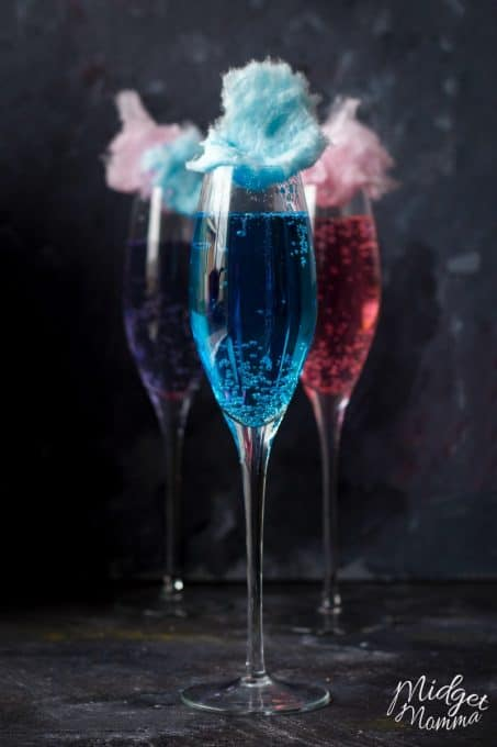 Kids party drinks don't get much better than this cotton candy mocktail