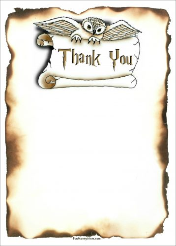 Harry Potter Thank You Card 5x7