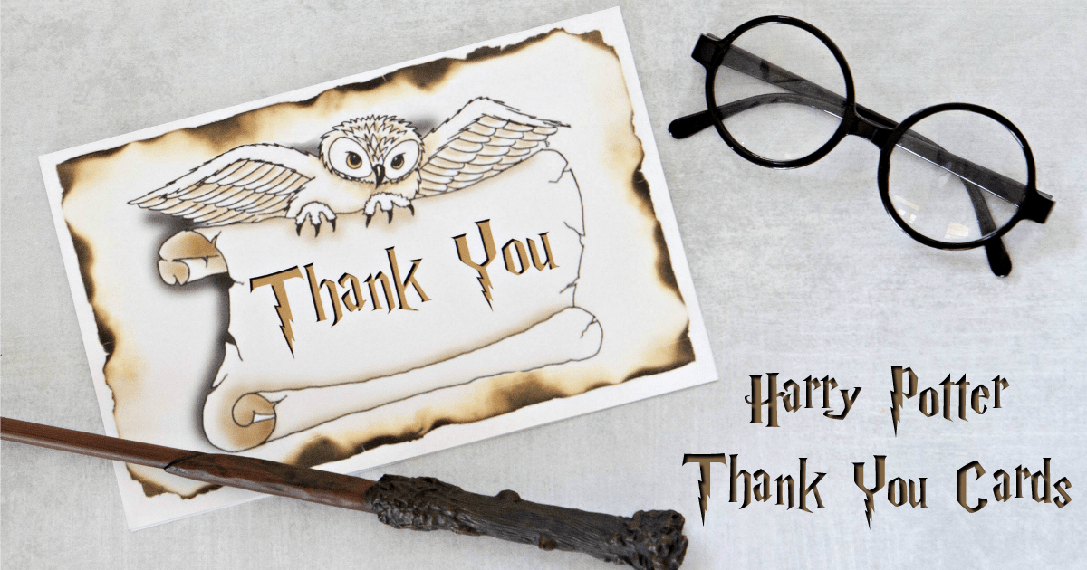 image regarding Harry Potter Glasses Printable referred to as Harry Potter Thank On your own Playing cards (no cost printables) Enjoyment Financial Mother
