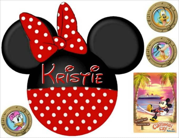 Minnie Mouse cruise door magnet