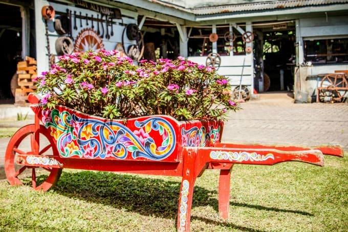 Painted Wheelbarrow in Sarchi Artisan Village
