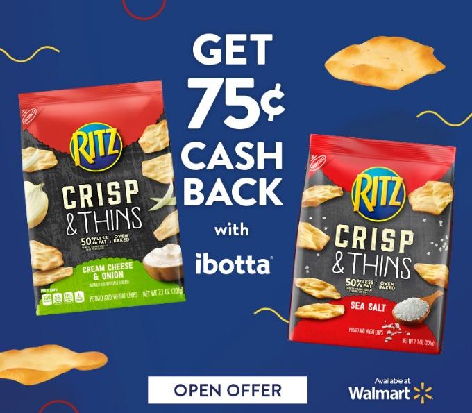 Save on RITZ Crisp & Thins with ibotta