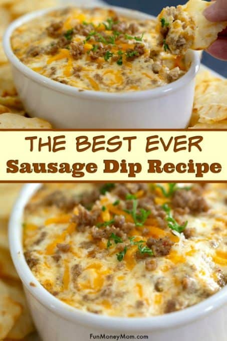 Hot Cheese Dip with Sausage