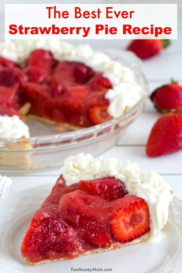 Strawberry Pie Recipe - Strawberries are in season so why not make this awesome strawberry pie recipe! With just a few ingredients, this mouthwatering dessert is an easy recipe that everyone will love! #FreshFromFlorida #IC #ad