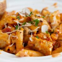 Chicken Pasta Bake With Mushrooms And Sun Dried Tomatoes