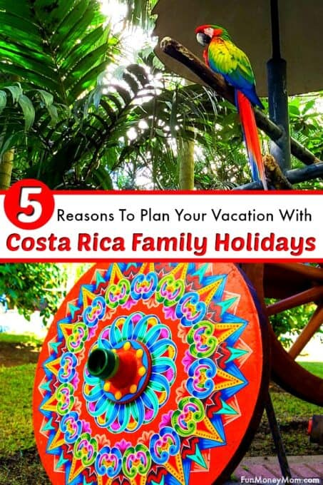 Costa Rica family holidays pin 1