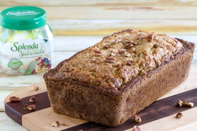 Healthy banana bread made with Splenda Naturals