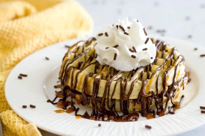 Dessert waffles with Reddi-wip