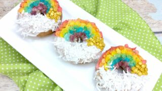Rainbow Air Fryer Donuts (5 Minute Shortcut Recipe)