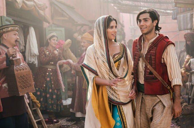 Aladdin and Jasmine in the market