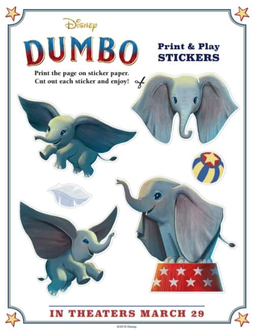 Dumbo Stickers