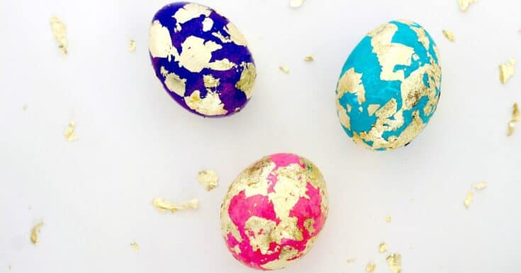 How To Make Beautiful Gold Foil Easter Eggs