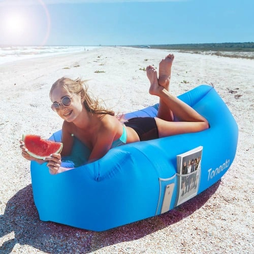 Inflatable beach lounger