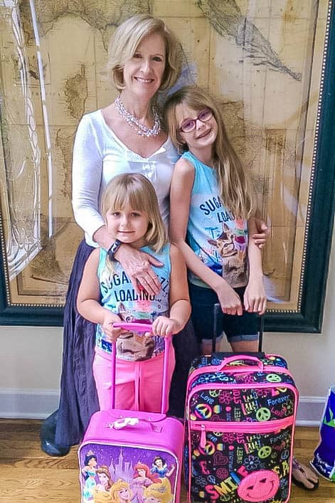 Grandma with granddaughters