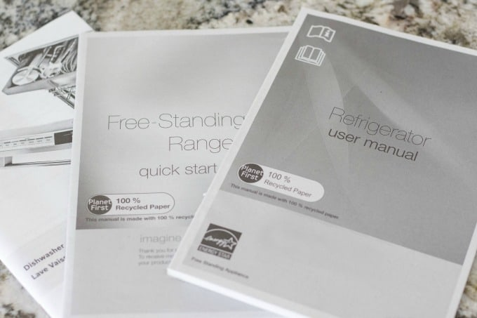 Appliance manuals